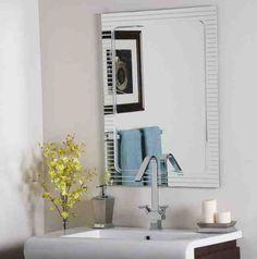 bathroom wall mirrors frameless
