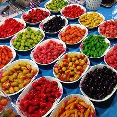 Colorful Thai desserts #chiangmai - @traveldivarita- #webstagram #Chiangmai #Thailand