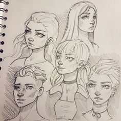 A page from my sketchbook :-) #drawing #sketchbook #art #instaart #artofinstagram #portrait #face #improvement #photoshop #painting #progress #pencildrawing #doodle #digitalart