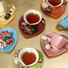 Inside Out Hearts Tea Cup & Saucer Gift Set