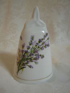 Royal-Stuart-Tara-Hall-Bone-China-Floral-Bell-GALWAY-IRELAND-lavender-flowers