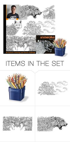 """Animorphia (Colouring book for adults)"" by hangar-knjiga ❤ liked on Polyvore featuring art, books, artexpression, colouringbook and animorphia"