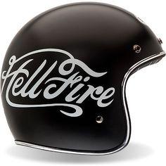 bell custom 500 helmet - hellfire