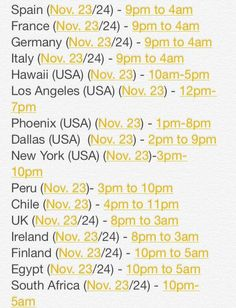1D Day times for y'all