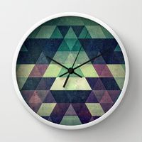 Wall Clock featuring dysty_symmytry by Spires