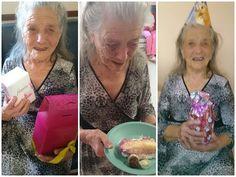 Idosa completa 100 anos e tem a primeira festa da sua vida