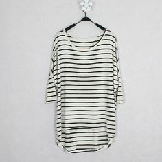 Wholesale Casual Stripe Splicing Color Batwing T-Shirt For Women (WHITE,ONE SIZE), Women's T-shirts - Rosewholesale.com