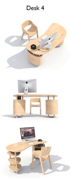 Desk 4 #design #desk #wood #mac #work