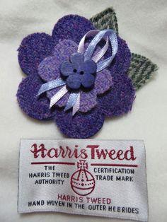 Harris Tweed Flower Brooch от JustJulesKeepsakes на Etsy