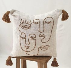 """Home + Lifestyle Store on Instagram: """"Good Morning Friday Having a bit of fun and mixing it up with our beautiful Abstract faces cushions. What can we say, they are happy, fun…"""" Cushions On Sofa, Throw Pillows, Good Morning Friday, Lifestyle Store, Abstract Faces, Cushion Covers, New Product, Reusable Tote Bags, Happy Fun"""