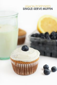 Make yourself this healthy single serve muffin flavored with lemon and poppy seeds in just 60 seconds! It's gluten-free and naturally sweetened!