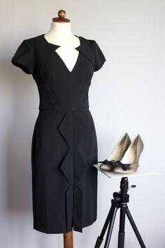 Hybrid size 12 black pencil dress, body con