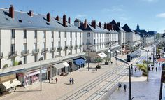 Richez Associés | le tramway de Tours, France Paving Pattern, Eco City, Tramway, Commercial Street, Tours France, Light Rail, Built Environment, Urban Planning, Train Travel