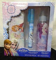 Disney Frozen Girl's Eau de Toilette, Body Spray & Clutch Gift Set