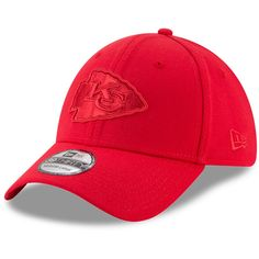 7aca4a27b47 Men s Kansas City Chiefs New Era Red Tonal 39THIRTY Flex Hat