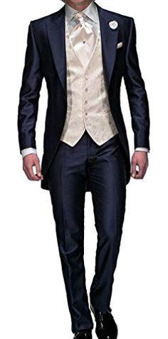 Lover Dress Slim Fit Navy Blue Tuxedos with Jacket Pants Tie Vest (XXXXL) Lover Dress http://www.amazon.com/dp/B010FLCSGC/ref=cm_sw_r_pi_dp_rGm3vb0QQ03JH