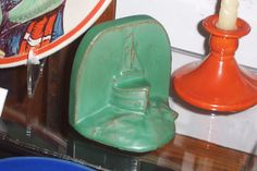 Catalina Island Pottery Ship Bookend listed on 12-1932 inventory - Only one known - Courtesy of the Catalina Island Museum