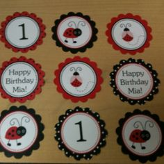 My custom cupcake toppers