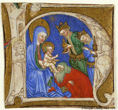 Initial H with the Adoration of the Magi, cutting from a 15th-century Italian choir book, MS M.558.3r - Images from Medieval and Renaissance Manuscripts - The Morgan Library & Museum