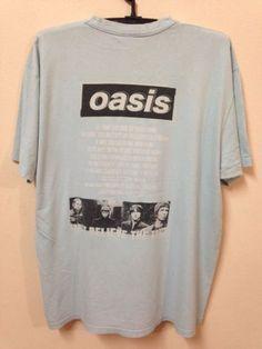Oasis-Vintage-90s-T-Shirt-Rock-BritPop-Band-World-Tour-Concert-Original-Size-XL