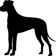 Great Dane cut out for dog theme party