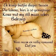Dog Quotes, Cute Quotes, Qoutes, Good Knight, Evening Greetings, Goeie Nag, Afrikaans Quotes, Morning Pictures, Morning Pics