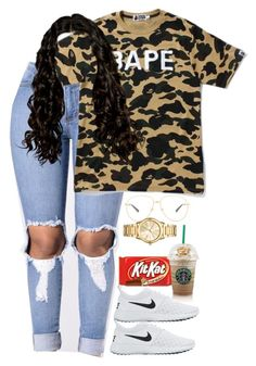 """""""10.14.16"""" by mcmlxxi ❤ liked on Polyvore featuring A BATHING APE, NIKE, Gucci and Michael Kors"""