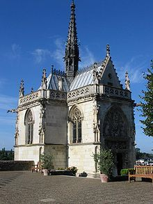 The chapel of Saint-Hubert, in the Amboise Castle, where Leonardo da Vinci is buried
