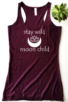 Stay Wild Moon Child Tank ~born under the Cancer sign~
