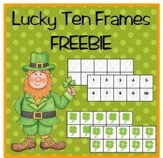Classroom Freebies Too: Lucky YOU! Shamrock Ten Frames :)