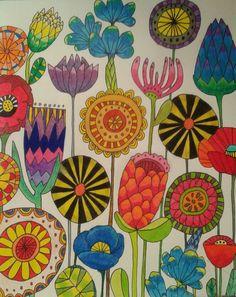 No photo description available. Folk Art Flowers, Flower Art, Botanical Flowers, Buch Design, Flower Doodles, Whimsical Art, Fabric Painting, Doodle Art, Painting Inspiration