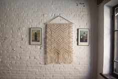 This large macrame wall hanging is love from the first sight. I really like the texture of the rope and rhythm of the knots. Its retro-inspired geometric pattern is about balance and beauty. This boho wall art is made of natural cotton. You will get a little bit of nature with