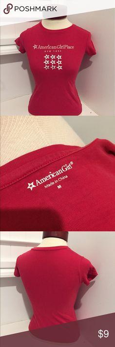 American girl T-shirt red medium Fourth of July NY American girl T-shirt red medium Fourth of July NY american girl Shirts & Tops Tees - Short Sleeve