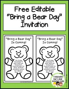 This Week I Finally Got Years Bring A Bear Day Class Books Put Together Teddy CraftsTeddy