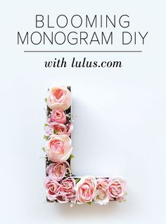 Warmer weather is right around the corner and if you're looking for a cute and totally chic piece to add to your spring decor, this Blooming Monogram DIY will be a sweet addition! We chose light pink roses, baby's breath, and tiny white daisies, but feel free to mix and match different flowers f...