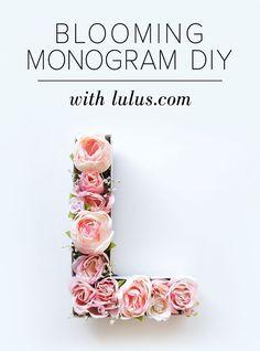 Blooming Monogram DIY at LuLus.com!