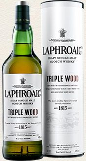 Laphroaig Single Malt Whisky - Triple Wood single malt available from Whisky Please.
