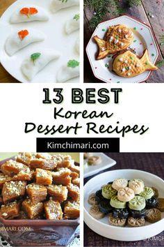 Oriental Food, Oriental Recipes, Korean Dessert, Tea Cookies, Rice Cakes, Korean Food, Street Food, Food Videos, Vegan Recipes