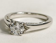 Simple, classy setting, and looks great with any diamond cut  =)