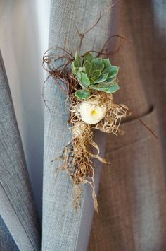 boutonniere idea perfectly in my theme Boutonnieres, Succulent Boutonniere, Wedding Boutonniere, Wedding Table, Rustic Wedding, Our Wedding, Dream Wedding, Enchanted Garden Wedding, Forest Wedding