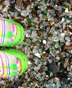 Cute boots in an amazing place: Fort Bragg Glass Beach Sea Glass Beach, Shell Beach, Beautiful Places To Visit, Beautiful Beaches, Amazing Places, Fort Bragg Glass Beach, Sea Glass Crafts, Beach Crafts, Sea Glass Jewelry