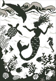Look what I found on AliExpress Mermaid Cross Stitch, Bothy Threads, Cross Stitch Kits, Needlework, Fairy Tales, Sea, Canvas, Fabric, Handmade