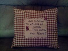 Primitive pillow made by Cindy's Primitives. $20.00