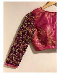 New Saree Blouse Designs, Fancy Blouse Designs, Bridal Blouse Designs, Brocade Blouse Designs, Designer Blouse Patterns, Pattern Blouses For Sarees, Stylish Blouse Design, Maggam Works, Saris