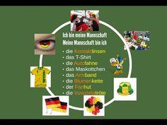 Ab A2: Fußball auf Deutsch erklärt German Resources, Foreign Language Teaching, Symbols, Letters, Sport, Christmas Ornaments, Holiday Decor, Videos, Youtube