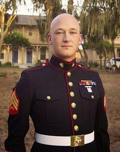 Marines dress blues alphas