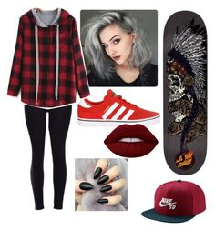 """""""Untitled #30"""" by im-not-emo11 ❤ liked on Polyvore featuring Lime Crime and NIKE"""