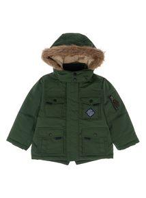 A khaki parka jacket? Yes! #KidsWear #PlayTime