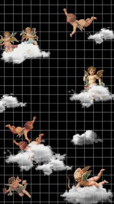 Tumblr Wallpaper, Angel Wallpaper, Cartoon Wallpaper Iphone, Trippy Wallpaper, Mood Wallpaper, Homescreen Wallpaper, Iphone Background Wallpaper, Retro Wallpaper, Wallpaper Desktop