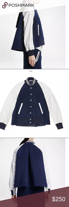 Nike Lab X Sacai Pleated Back Destroyer Jacket Obsidian/White 802260-452 Women's Size X-Large 100% Authentic. Bought from Nike Store. Nike Jackets & Coats